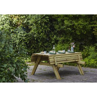 Madyson Wooden Picnic Bench By Sol 72 Outdoor