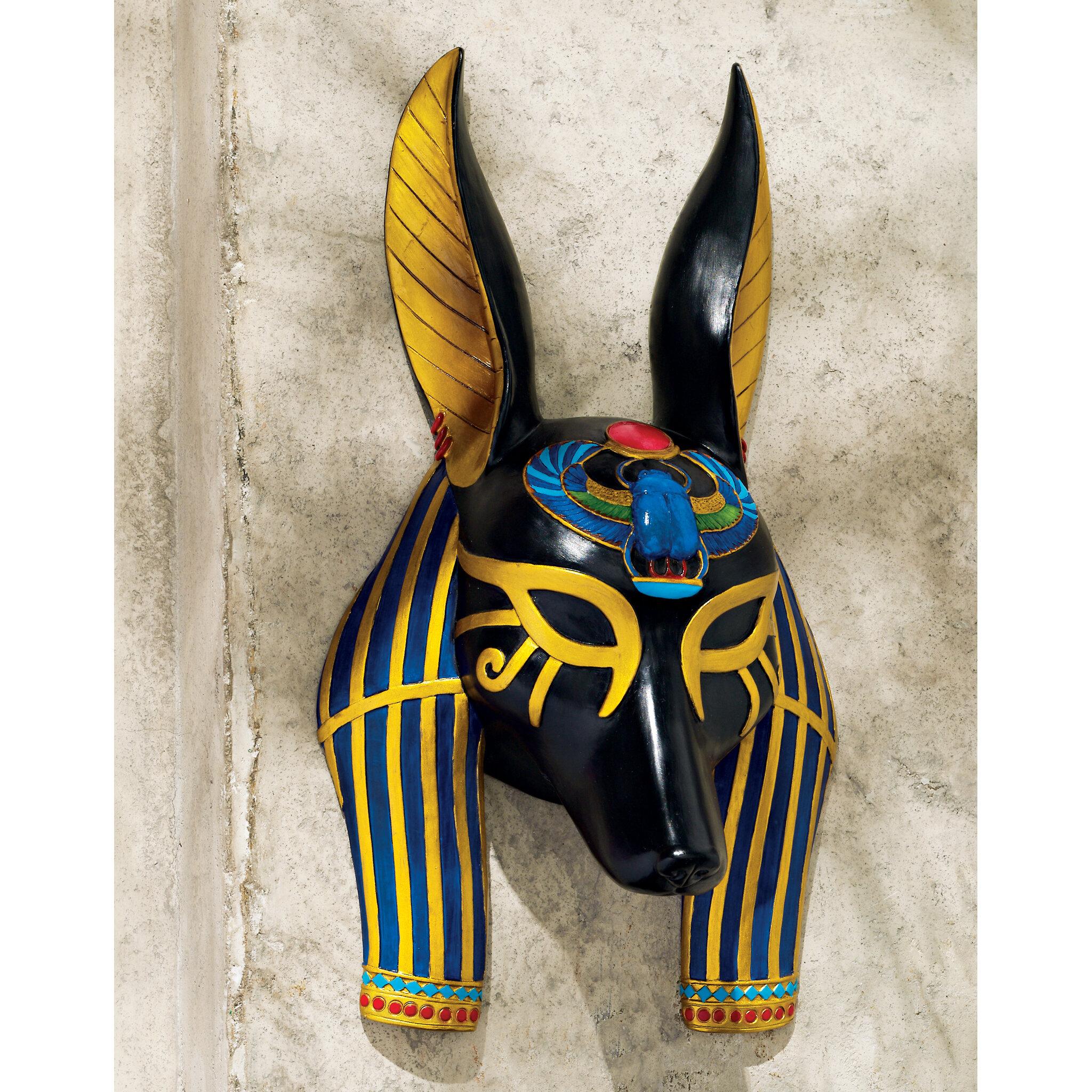 Design Toscano Mask of Ancient Egyptian Gods Anubis