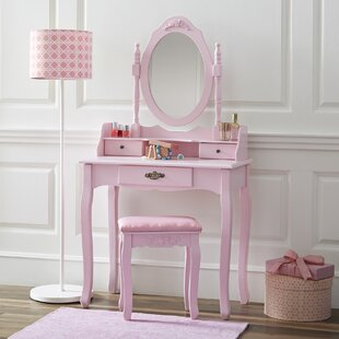Astoria Grand Bentonville Vanity Set with Mirror