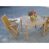 Farnam 3 Piece Teak Bistro Set with Sunbrella Cushions