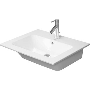 Me by Starck Ceramic Rectangular Vessel Bathroom Sink with Overflow Duravit