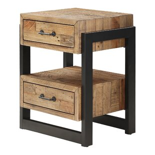 Chitwood 2 Drawer Bedside Table By Union Rustic