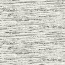 "Black and White Newsprint 27' x 27"" Wallpaper Roll"