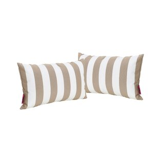 Bridgwater Rectangular Striped Outdoor Lumbar Pillow (Set of 2)
