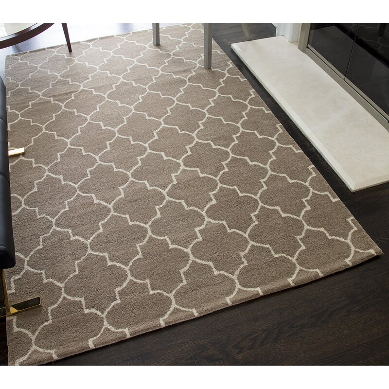 Darby Home Co Beauvais Geometric Handmade Tufted Wool Beige Area Rug Reviews Wayfair