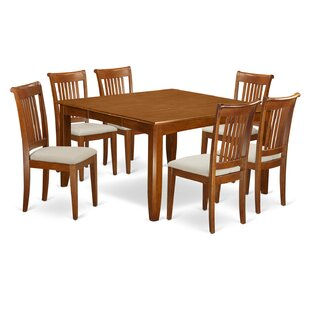 Parfait 7 Piece Dining Set Wooden Importers