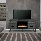 Talon TV Stand for TVs up to 65 with Electric Fireplace Included by 17 Stories