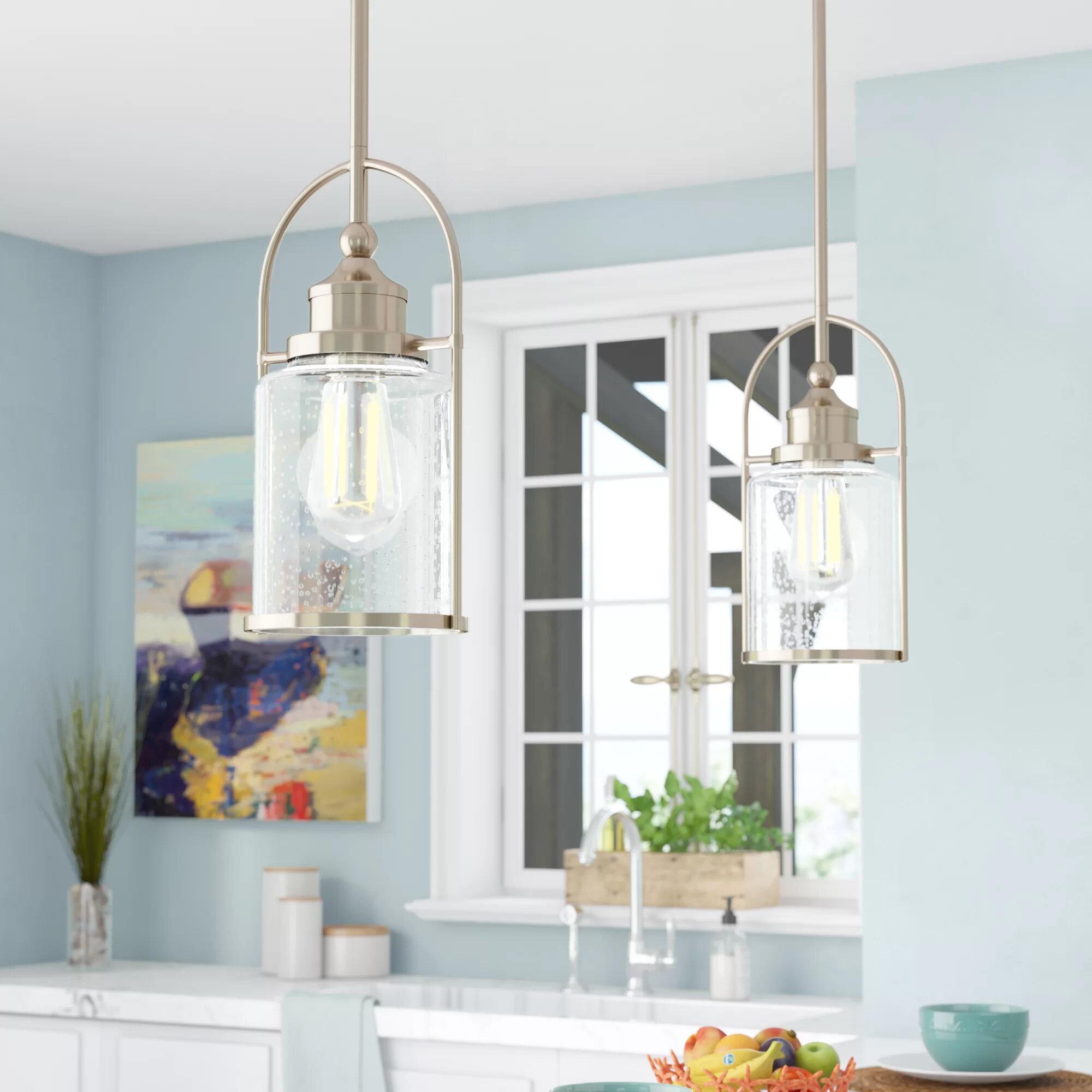 Breakwater Bay Lafitte 1 Light Single Bell Pendant Reviews Wayfair