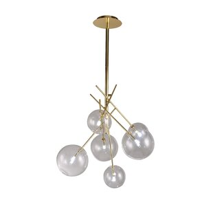 Everly Quinn Cheadle 6-Light Sputnik Chandelier