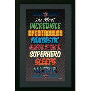 Superhero 2 Framed Wall Art  sc 1 st  Wayfair & Superhero Wall Art | Wayfair