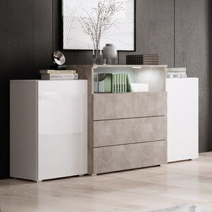Galzak 3 Drawer Combi Chest By Selsey Living