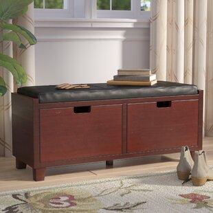 Red Barrel Studio Glen Wood/Upholstered Storage Bench