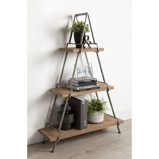 Kelly Free-Standing 3 Tiered Standard Bookcase Union Rustic