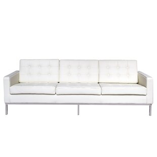Gibney Leather Sofa by Orren Ellis