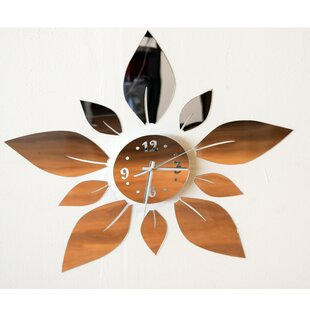 Blossom in Time Floral Wall Clock by Design Art