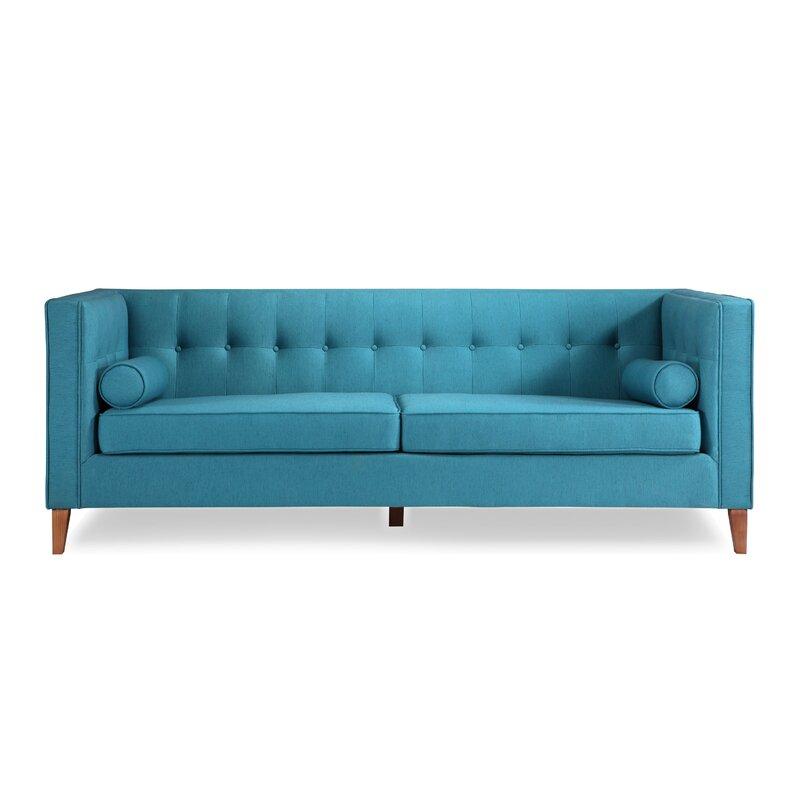 Jefferson Mid Century Modern Chesterfield Sofa