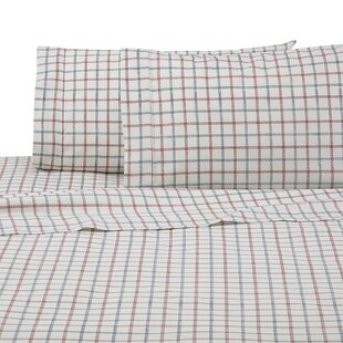 Grid 4-Piece Microfiber Sheet Set