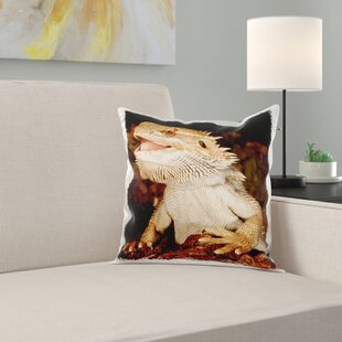 Bearded Dragon Lizard, Native to Australia Pillow Cover