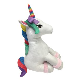 Nickelodeon JoJo Siwa Plush Sparkle Rainbow Unicorn Throw Pillow