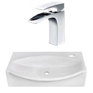 Find a Ceramic 12 Wall Mount Bathroom Sink with Faucet By American Imaginations