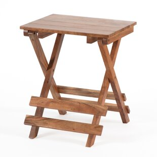 Phaedra Folding End Table by Millwood Pines