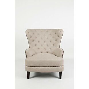 Glynn Button Tufted Wingback Armchair by Darby Home Co