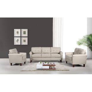 Rosenow Tufted Mid Century 3 Piece Living Room Set