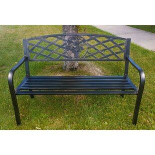 O'Toole Criss-Cross Backrest Metal Garden Bench