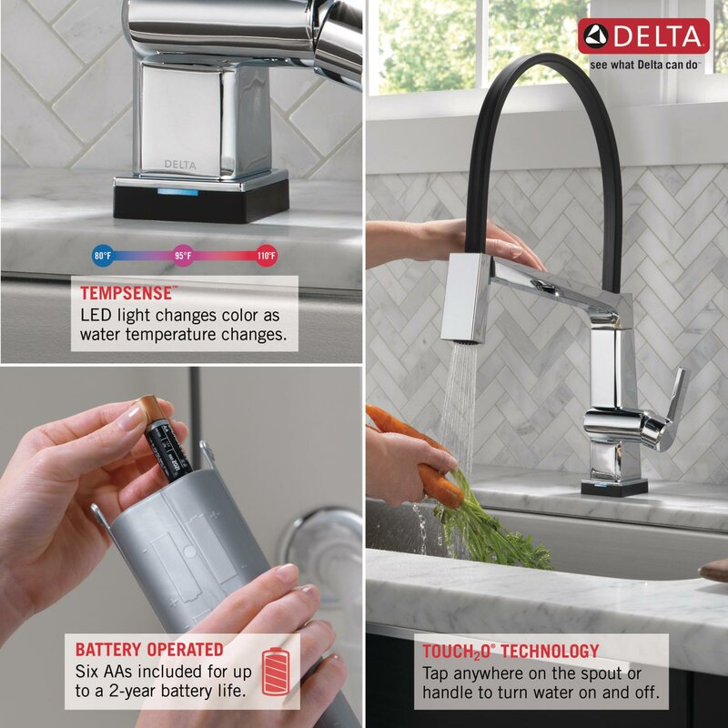 Pivotal Touch Single Handle Kitchen Faucet With Touch20 Technology Reviews Allmodern