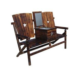 Ardoin Solid Wood Tete-a-Tete Bench