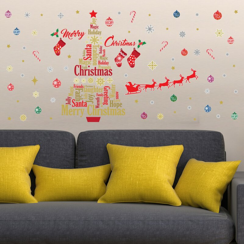 The Holiday Aisle English Quotes Christmas Decoration Wall Decal ...