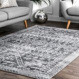 Caskey Grey Area Rug by World Menagerie