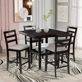 Adeewa 5 - Piece Counter Height Dining Set by Red Barrel Studio®