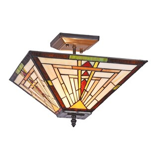 Loeffler Mission 2-Light Semi Flush Mount by Charlton Home