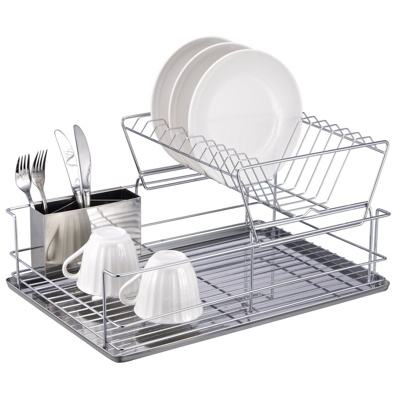 Oxo Good Grips Folding Stainless Steel Dish Rack Adorable 60 Tier Stainless Steel Dish Rack Reviews AllModern