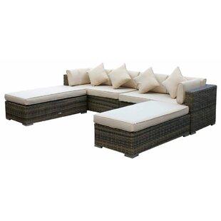 Tessa 8 Seater Rattan Corner Sofa Set With Cushion Image