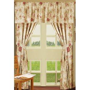 Abbigail Nature/Floral Sheer Rod Pocket Curtain Panels (Set of 2)