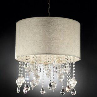 ORE Furniture Drape Crystal 3-Light Chandelier