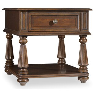Trend Leesburg End Table with Storage By Hooker Furniture