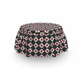 Grid Stripes and Squares Ottoman Slipcover (Set of 2) by East Urban Home