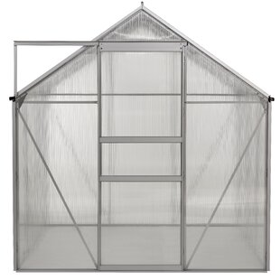 OGrow Aluminum Walk-in 6 Ft. W x 6 Ft. D Greenhouse with Double Roof Vent