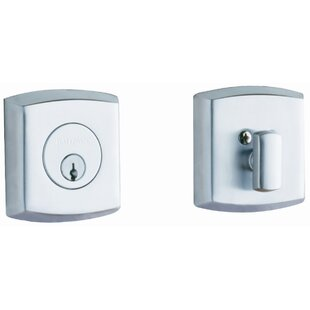 Soho Deadbolt with Single Cylinder in Polished Chrome by Baldwin