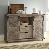 Magnus 47 Wide 2 Drawer Fir Wood Credenza by Gracie Oaks
