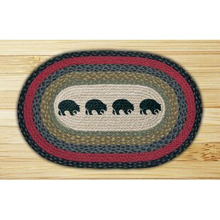 Low priced Black Bears Printed Area Rug By Earth Rugs