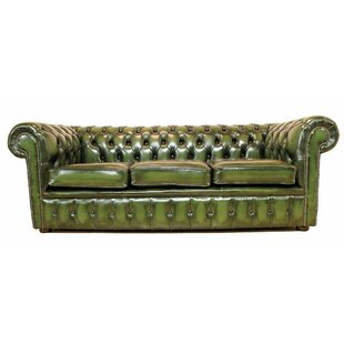 Cohasset Genuine Leather 3 Seater Chesterfield Sofa By Williston Forge