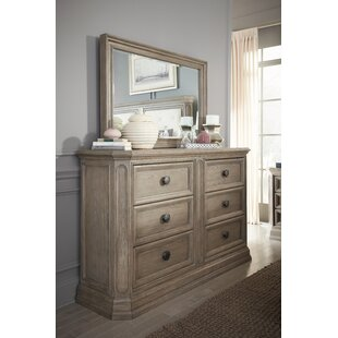 Thaxted 6 Drawer Double Dresser with Mirror