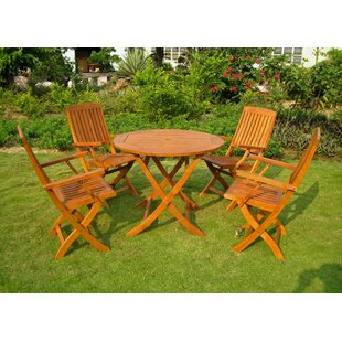 Sabbattus 5 Piece Patio Dining Set