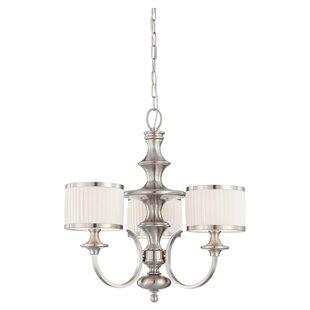Harwinton 3-Light Shaded Chandelier by Three Posts