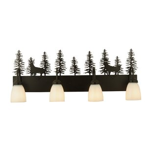 Meyda Tiffany Deer Through the Trees 4-Light Vanity Light
