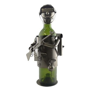 Soldier 1 Bottle Tabletop Wine Rack by Wi..